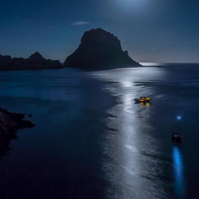 """""""Es Vedra Moonlight"""" stock image"""