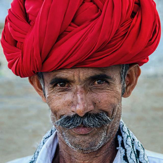 """RABARI MAN"" stock image"