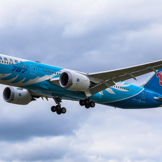 """""""Boeing B787 China Southern B-1297"""" stock image"""