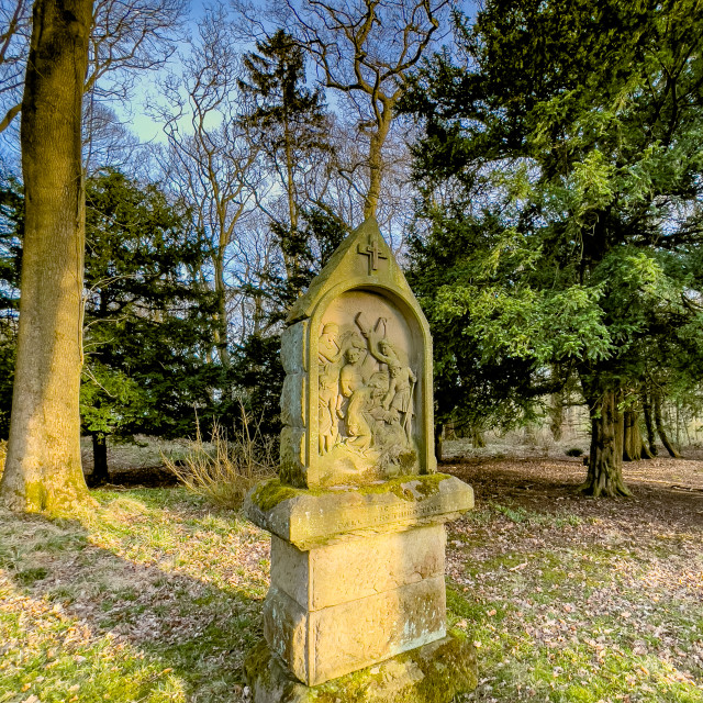 """""""Calvary, Stations of the Cross, Ilkley, West Yorkshire, England."""" stock image"""