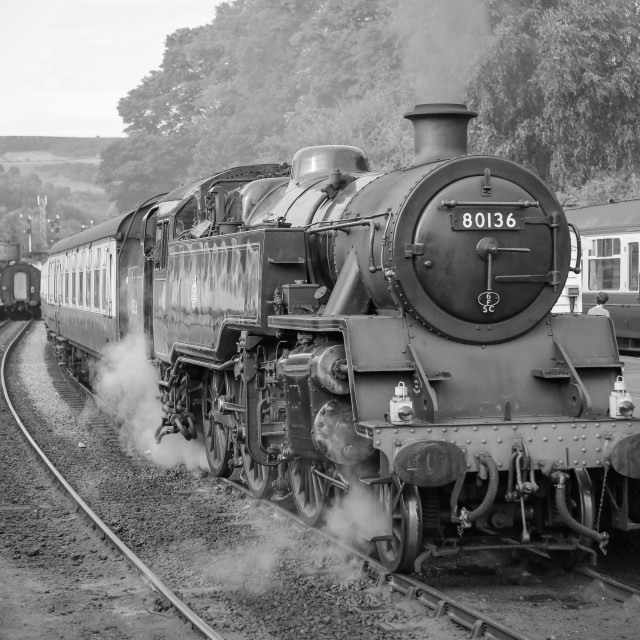 """""""80136 at Grosmont"""" stock image"""
