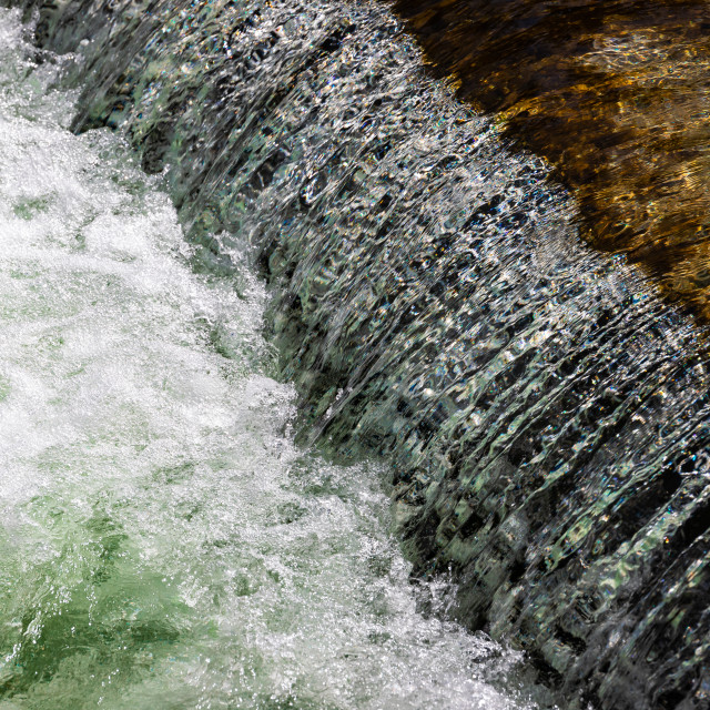 """""""river with artificial wall"""" stock image"""