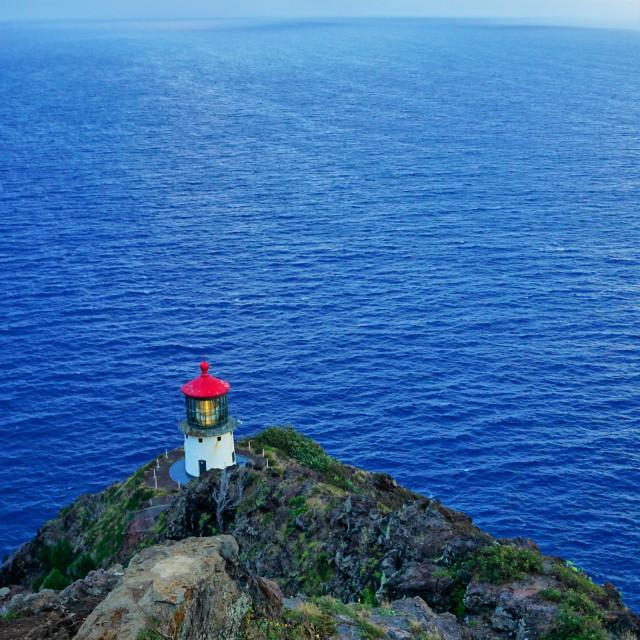 """Lone lighthouse"" stock image"