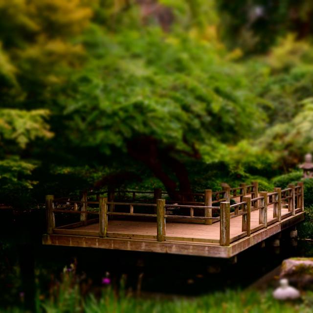 """Japanese Park Walkway"" stock image"