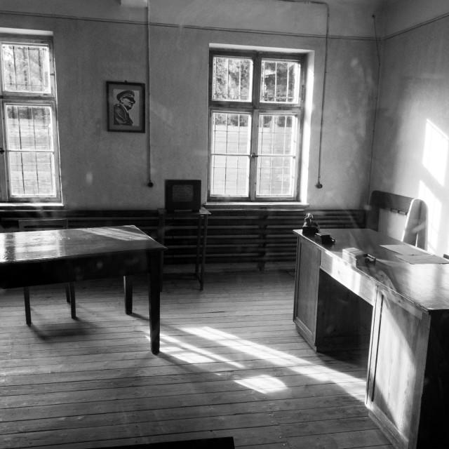 """""""Auschwitz 1 worker admin office"""" stock image"""
