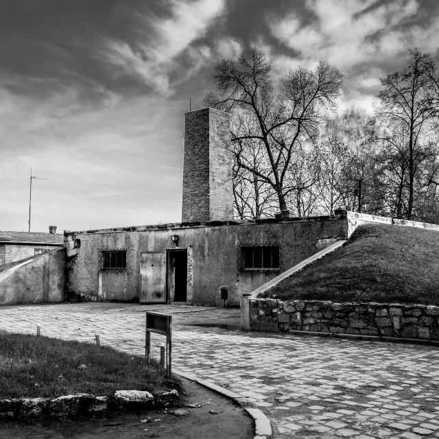 """Auschwitz 1 Gas Chamber"" stock image"