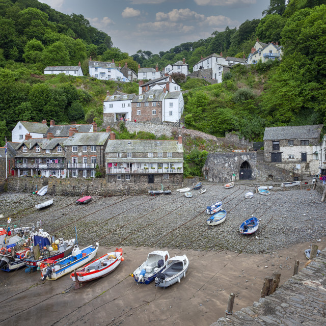 """""""Clovelly Harbour"""" stock image"""