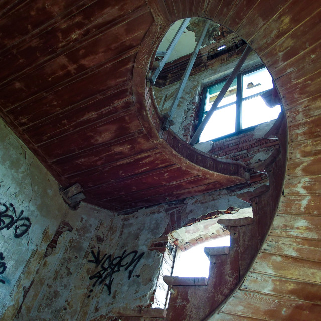 """Abandoned Stairway"" stock image"