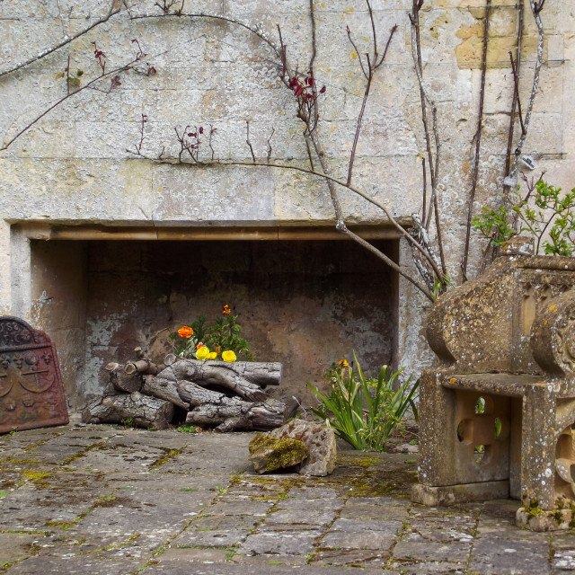"""Ancient Fireplace"" stock image"