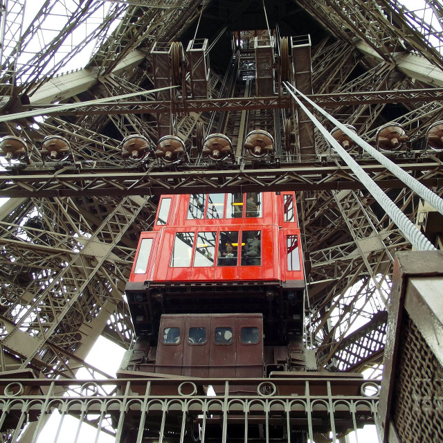 """Eiffel Tower Lift"" stock image"