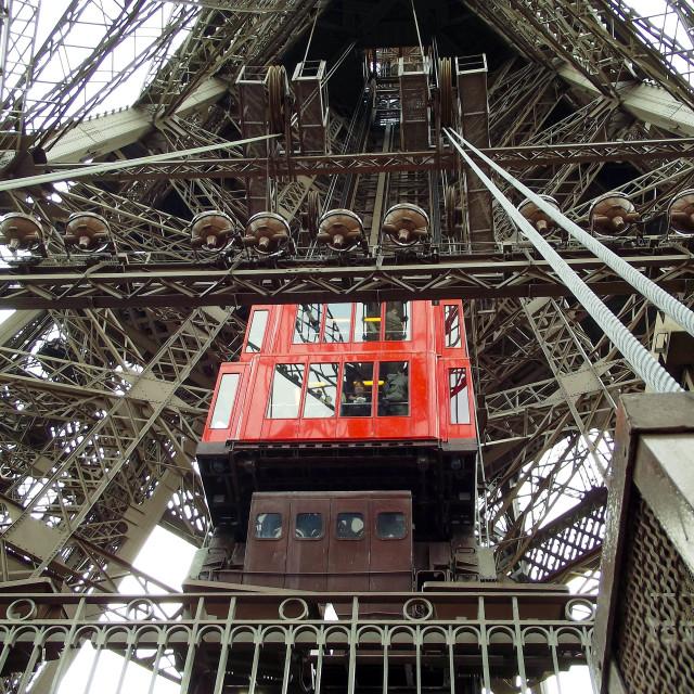 """Eiffel Tower Lift"" stock image"