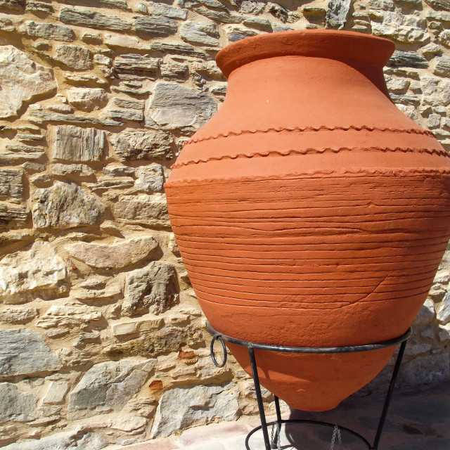 """Terra Cotta Pot"" stock image"