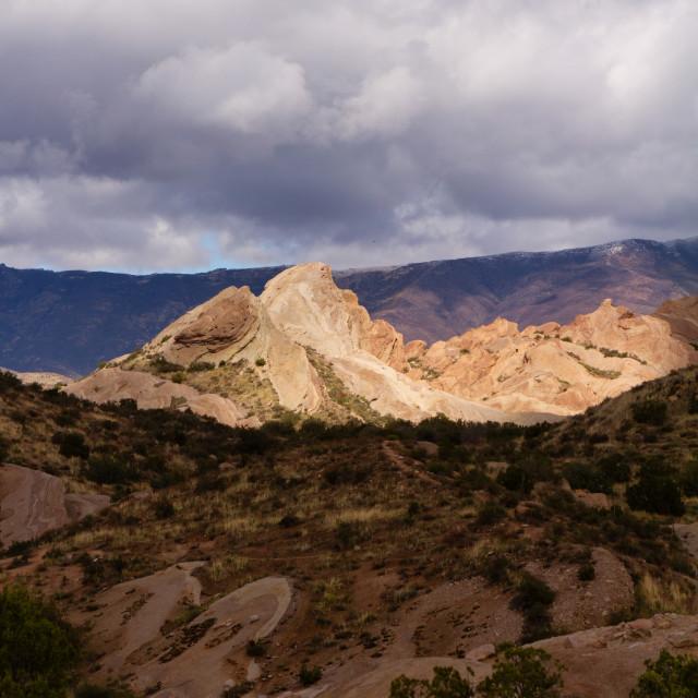 """""""Sunlight mountains in the desert"""" stock image"""