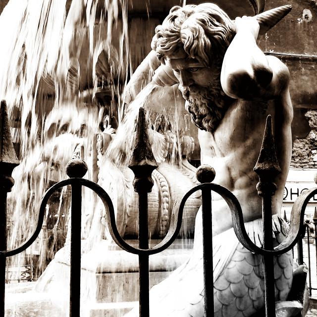 """Fontana con Nettuno"" stock image"