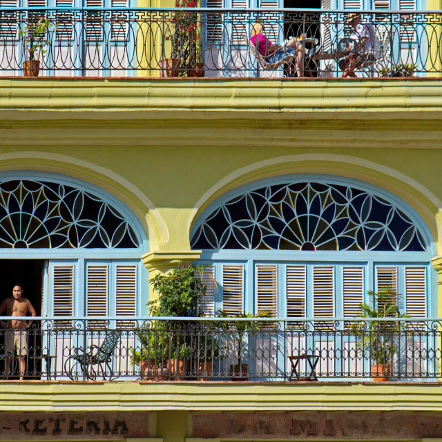 """""""Yellow colonial house"""" stock image"""