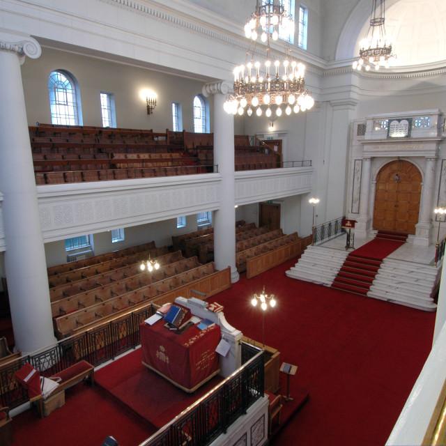 """""""Shaare Hayim Sephardi Synagogue, Manchester. 2"""" stock image"""