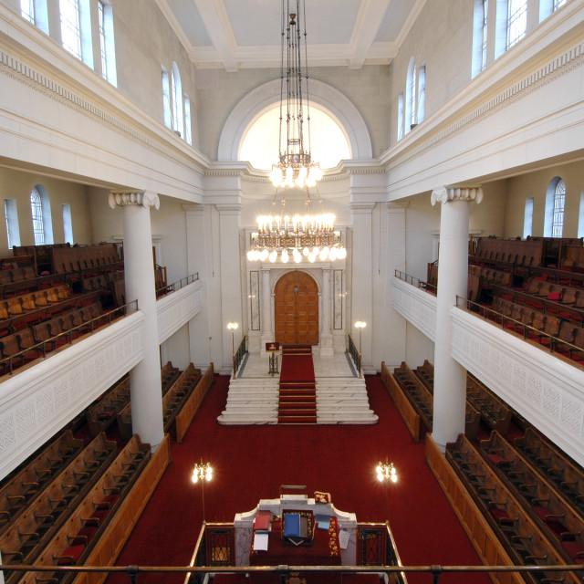 """""""Shaare Hayim Sephardi Synagogue, Manchester. 1"""" stock image"""