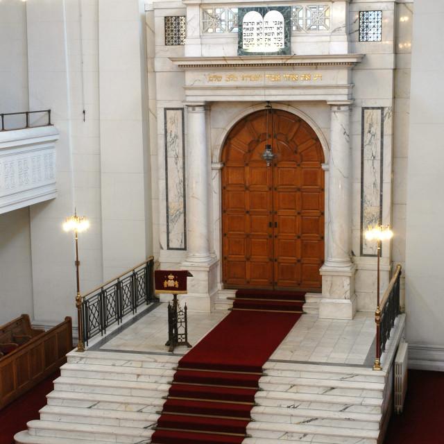 """""""Shaare Hayim Sephardi Synagogue, Manchester. 3"""" stock image"""