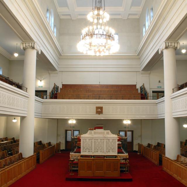 """""""Shaare Hayim Sephardi Synagogue, Manchester. 12"""" stock image"""