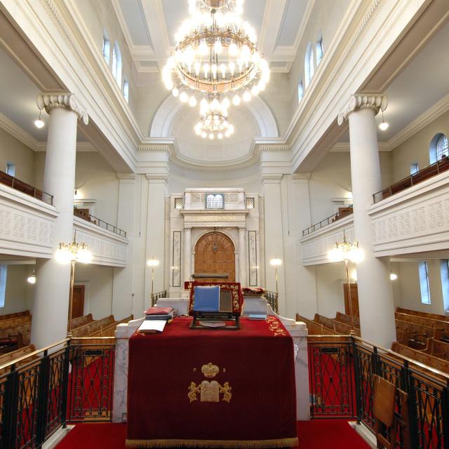 """""""Shaare Hayim Sephardi Synagogue, Manchester. 13"""" stock image"""