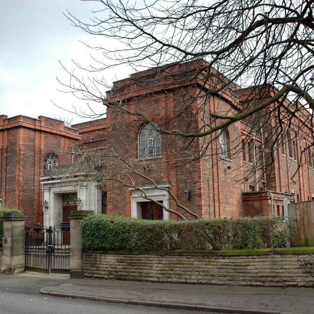 """Shaare Hayim Sephardi Synagogue, Manchester Exterior 1"" stock image"