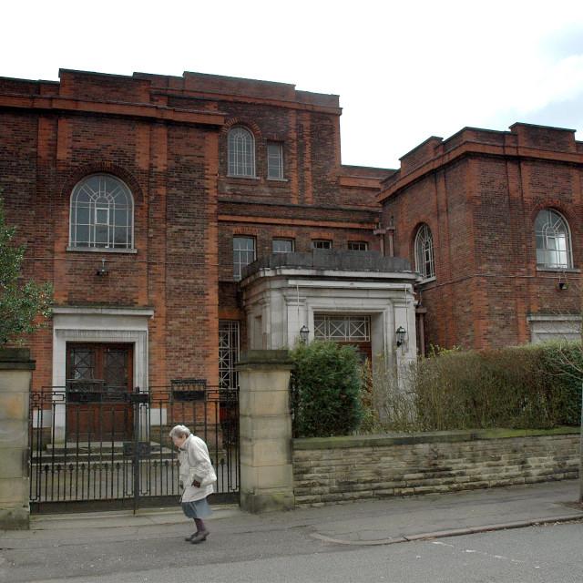 """Shaare Hayim Sephardi Synagogue, Manchester Exterior 2"" stock image"