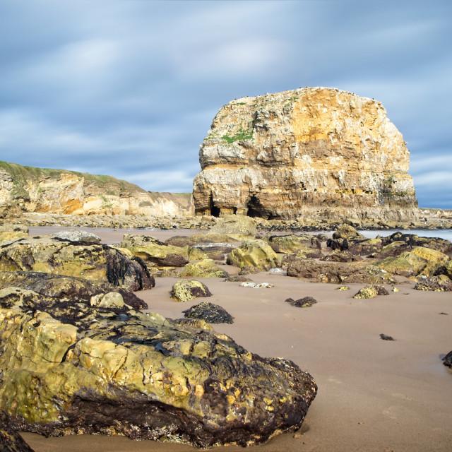 """Marsden Rock, Whitburn"" stock image"