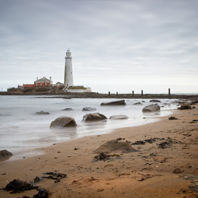 """""""St Mary's Lighthouse, Whitley Bay"""" stock image"""