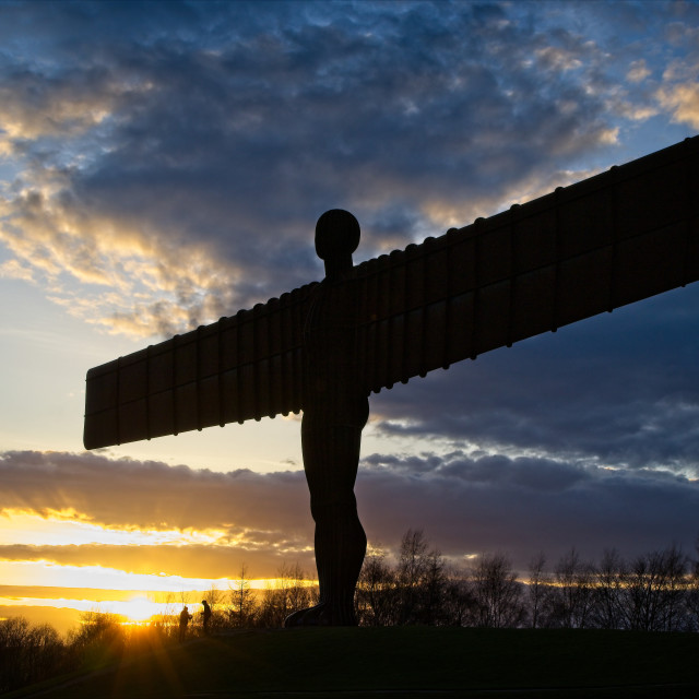 """""""Angel of the North Silhouette"""" stock image"""