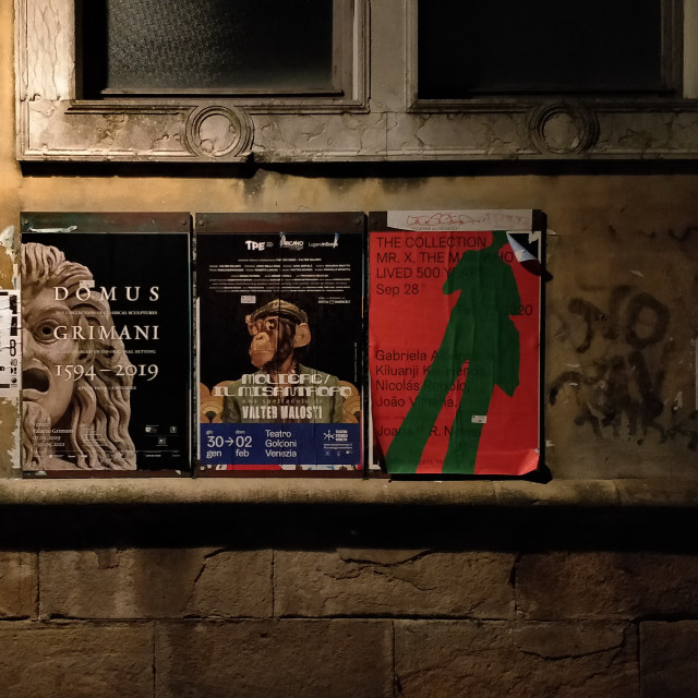 """""""Street posters in Venice, Italy"""" stock image"""