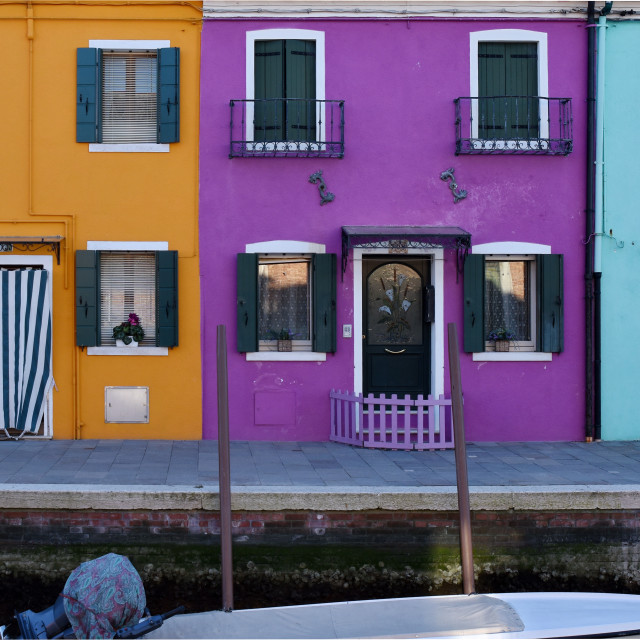 """""""Colorful houses in Burano"""" stock image"""
