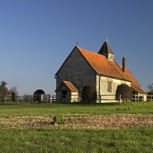 """""""St Hubert's Church"""" stock image"""