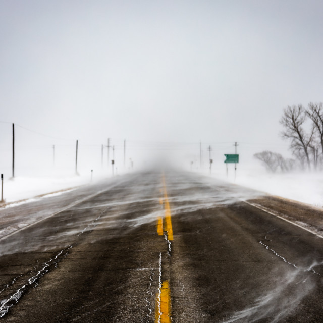 """""""Blizzard on the Road"""" stock image"""