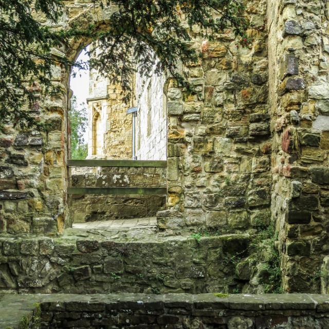 """Abbey Window"" stock image"
