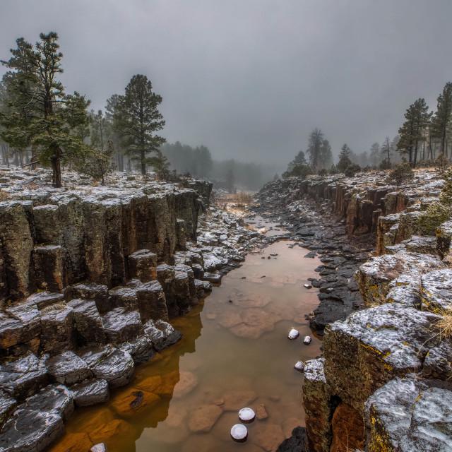 """""""travel-stream-canyon-arizona-landscape"""" stock image"""