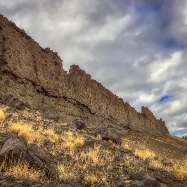 """rock-wall-shiprock-new-mexico"" stock image"