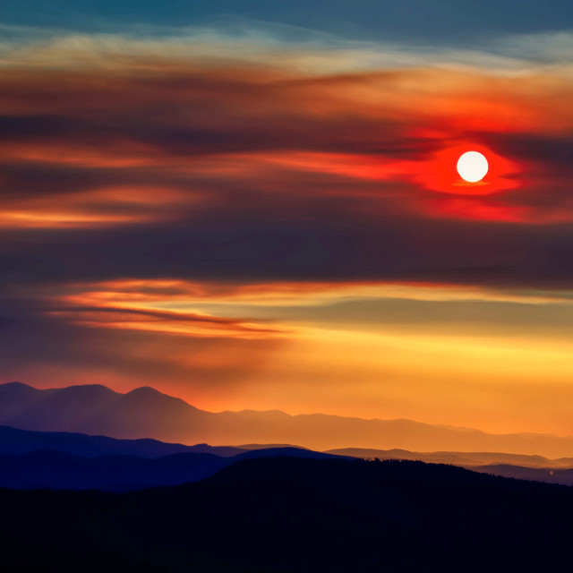 """""""wildfires-wild-fire-west-sunset"""" stock image"""
