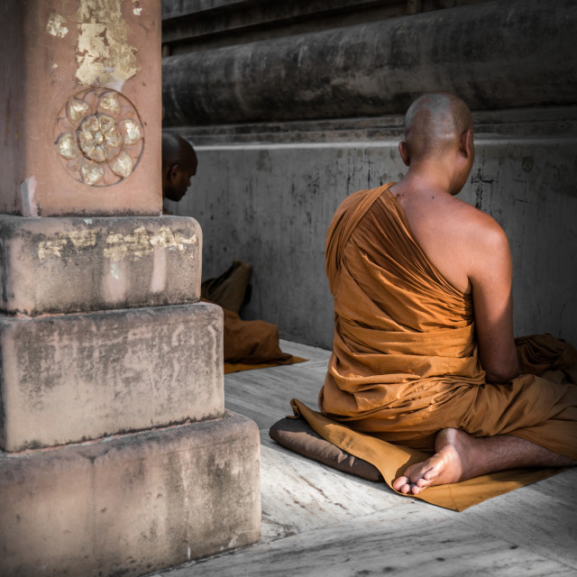 """""""At the Mahabodhi Temple"""" stock image"""