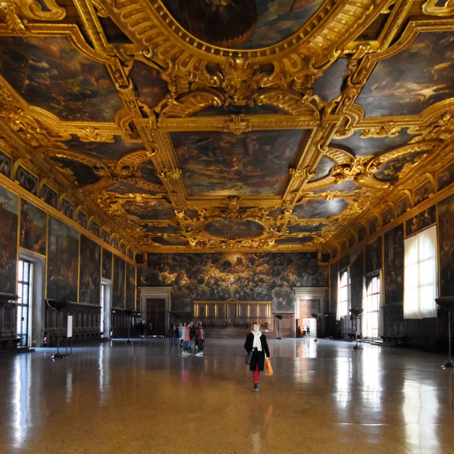 """""""Interior of the Doge's Palace"""" stock image"""