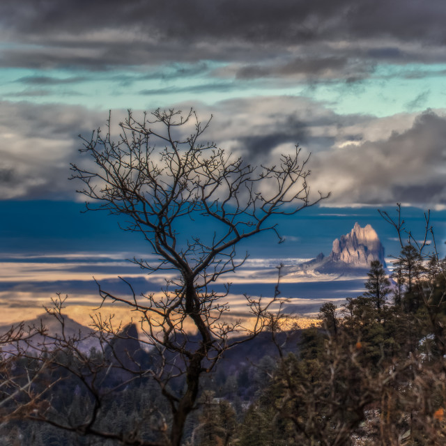 """""""mountain top-new mexico-view-sunrise-target"""" stock image"""