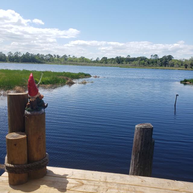 """Fishing Gnome"" stock image"