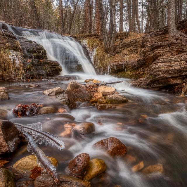 """waterfall-travel-arizona-vacation-national forest"" stock image"