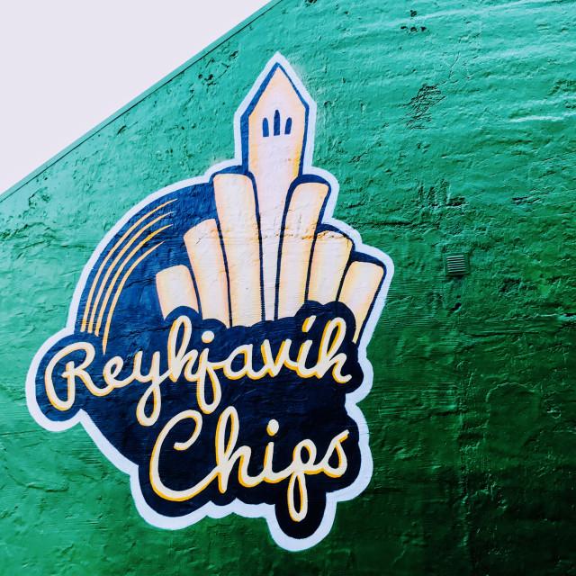 """Reykjavik Chips"" stock image"