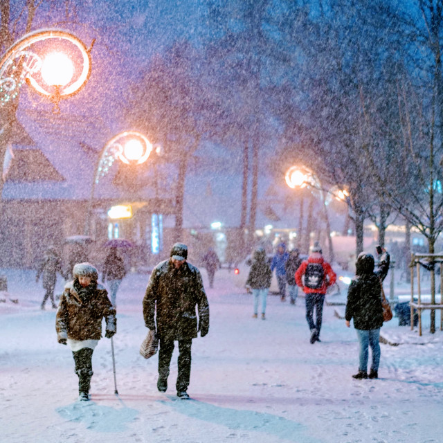 """Zakopane In Snow"" stock image"