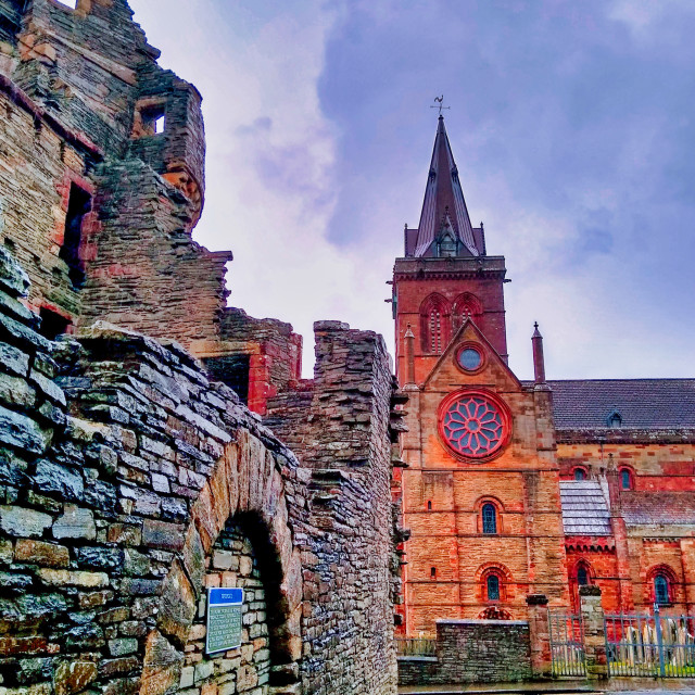 """St Magnus, Orkney"" stock image"