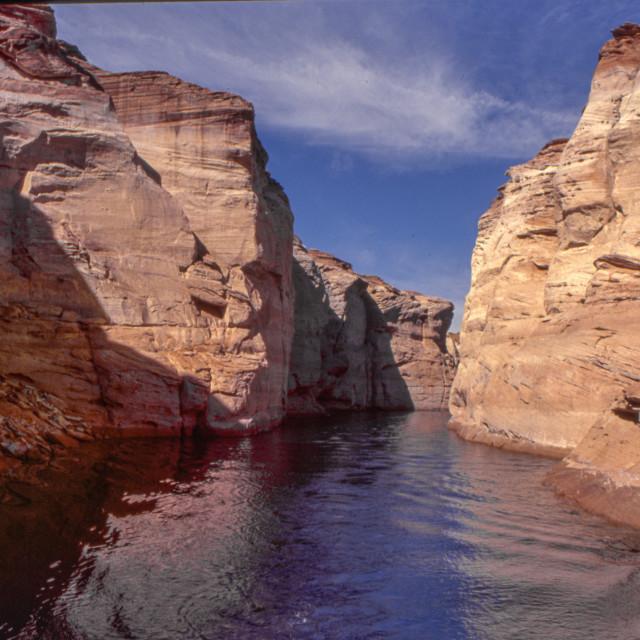 """Lake Powell arm - boat tour"" stock image"