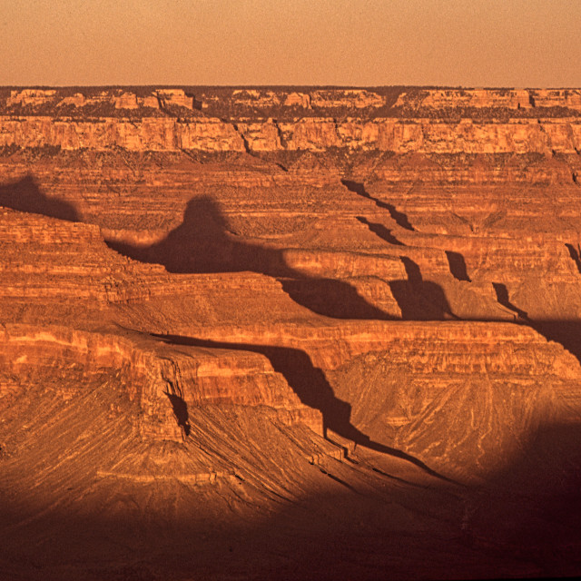 """""""The Grand Canyon at sunset"""" stock image"""