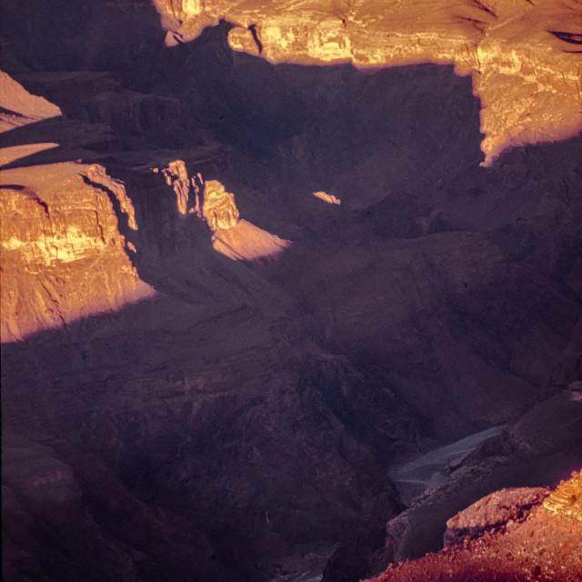 """Grand Canyon & Colorado River detail"" stock image"