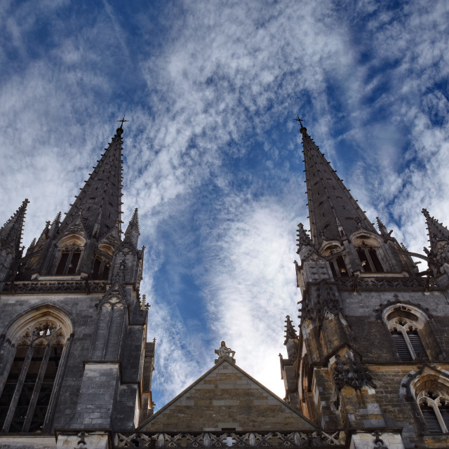 """""""Saint Mary Cathedral, Bayonne, France"""" stock image"""