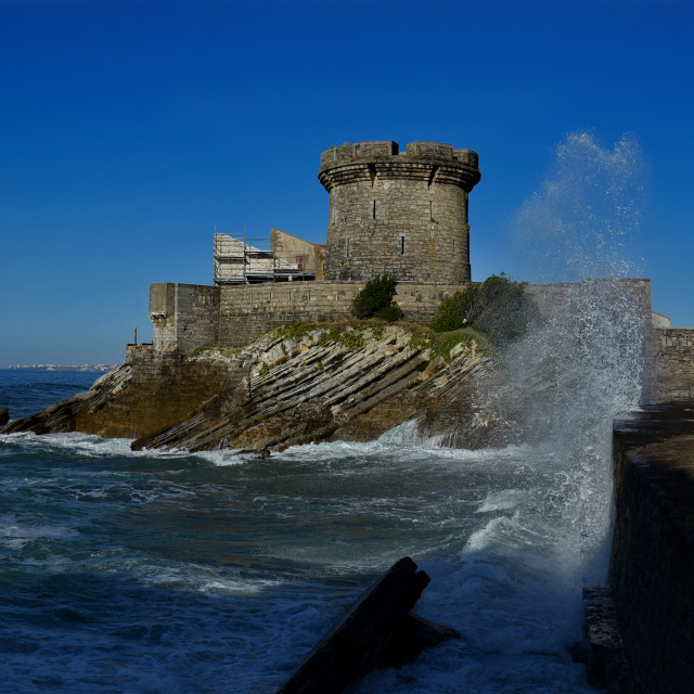 """""""the Socoa Fort"""" stock image"""